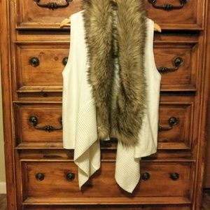 NWT Michael Kors Faux Fur cardigan